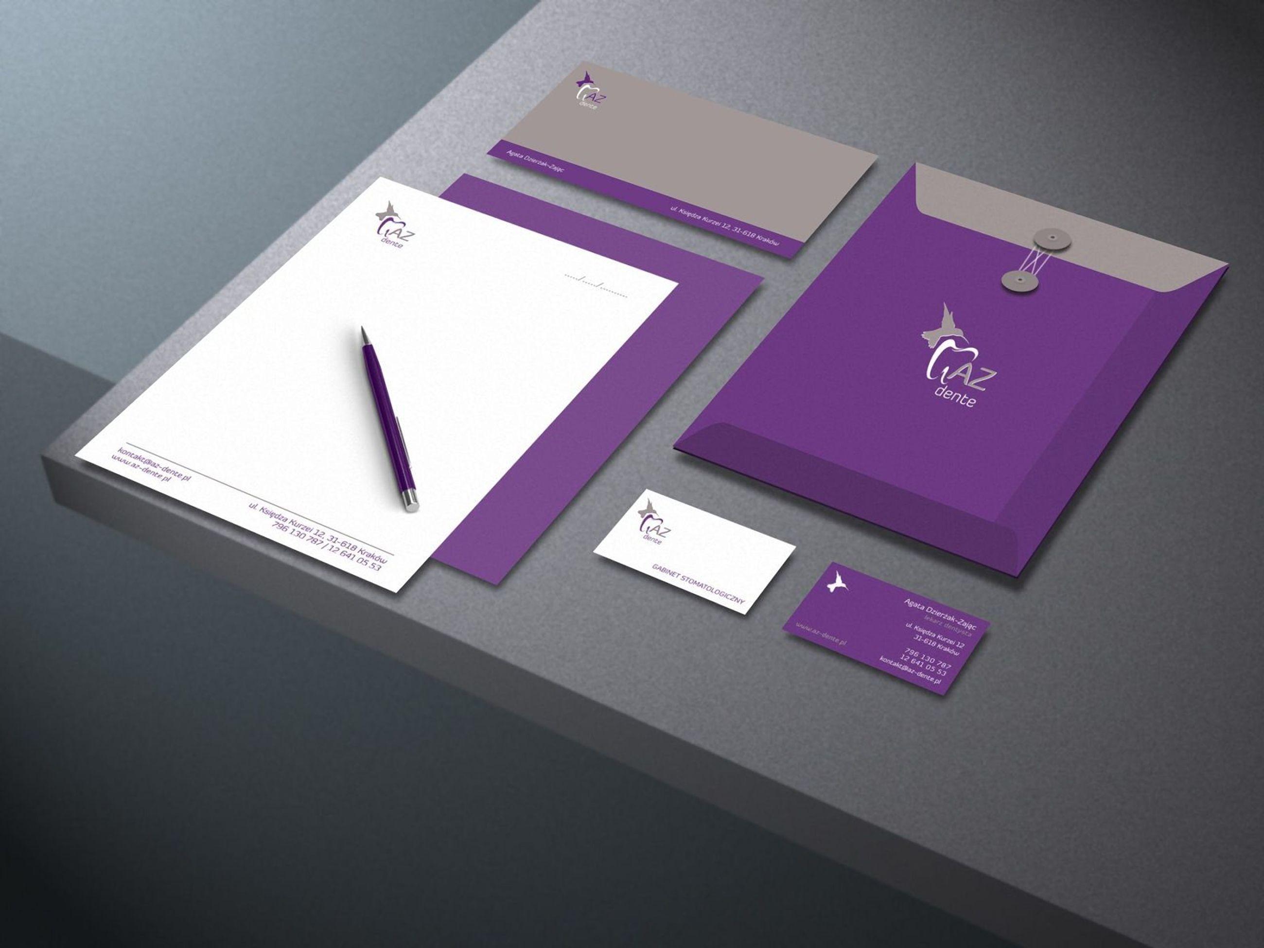AZ Dente identyfikacja wizualna | branding
