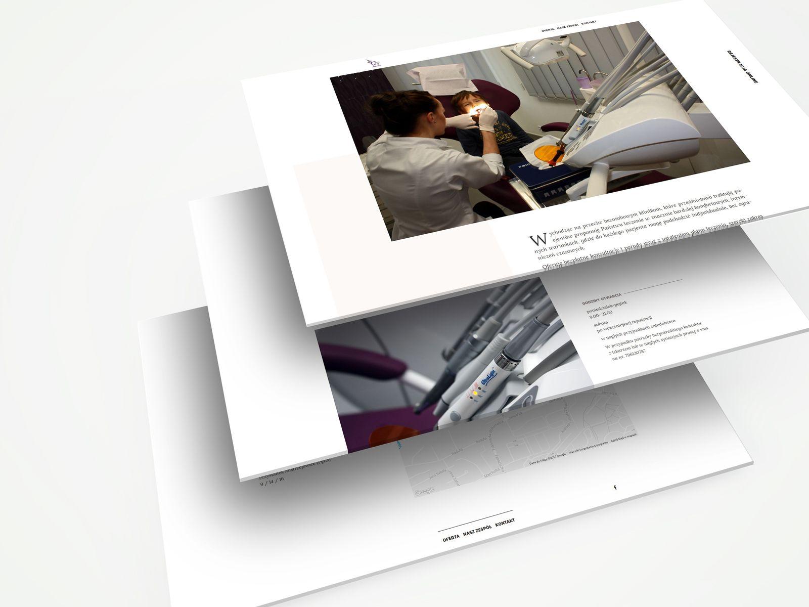 Projekt strony internetowej AZ Dente | UX UI Design