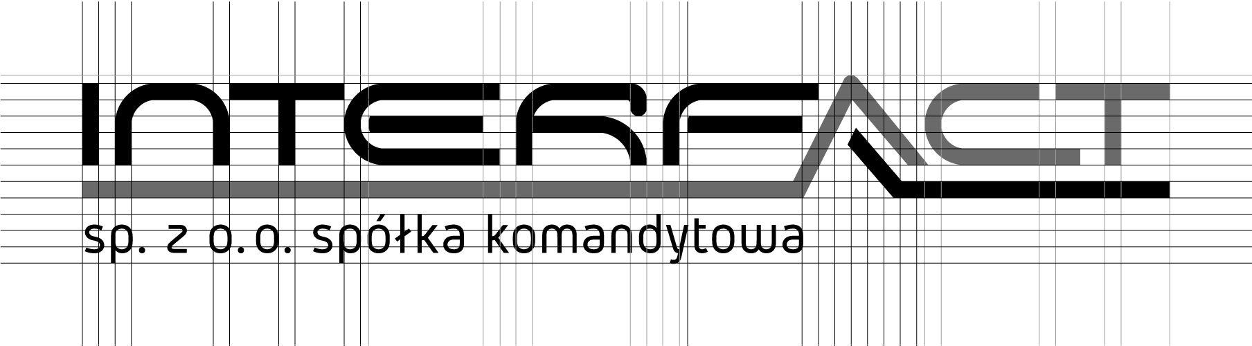 Budowa logotypu dla Interfact | branding | identyfikacja wizualna