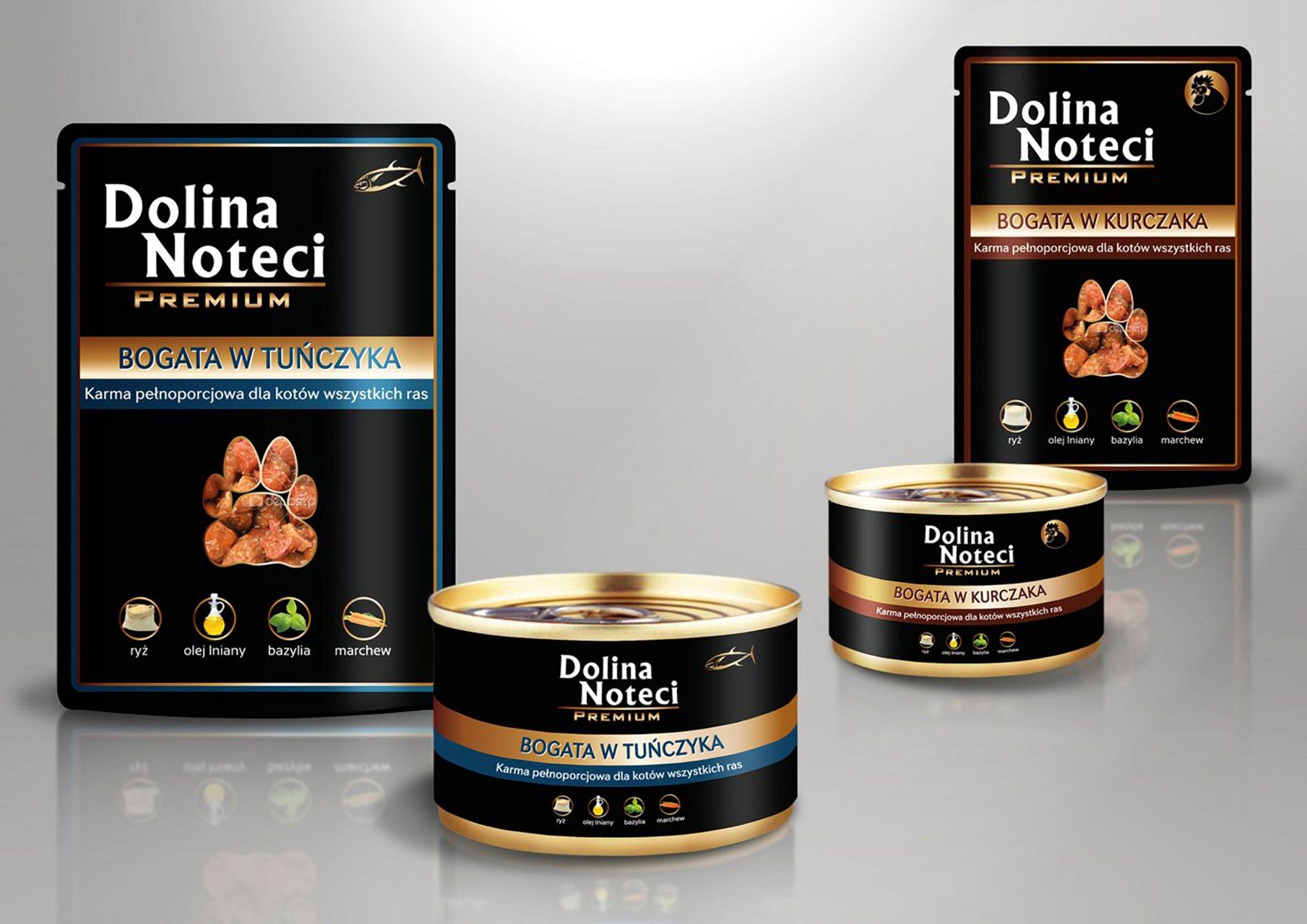 Projekt opakowań karmy dla kotów dla Dolina Notecci