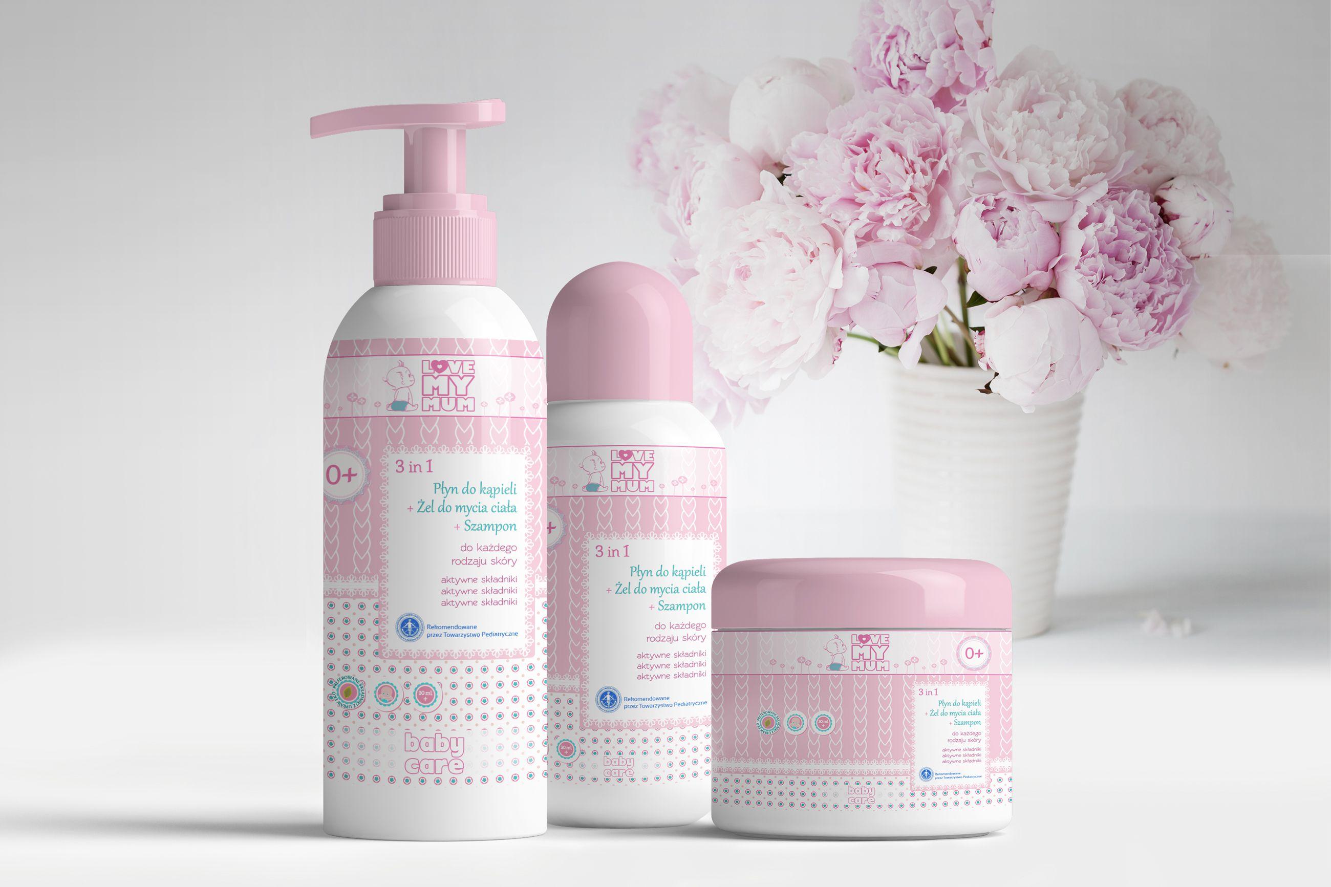 Projekt opakowań kosmetyków dla love my mum