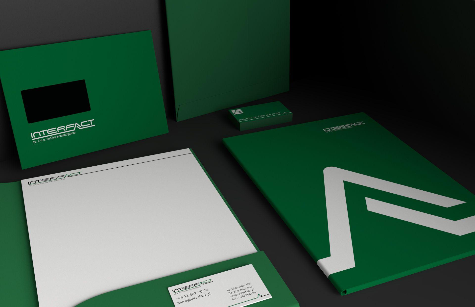 Projekt identyfikacji wizualnej marki Interfact | branding | identyfikacja wizualna