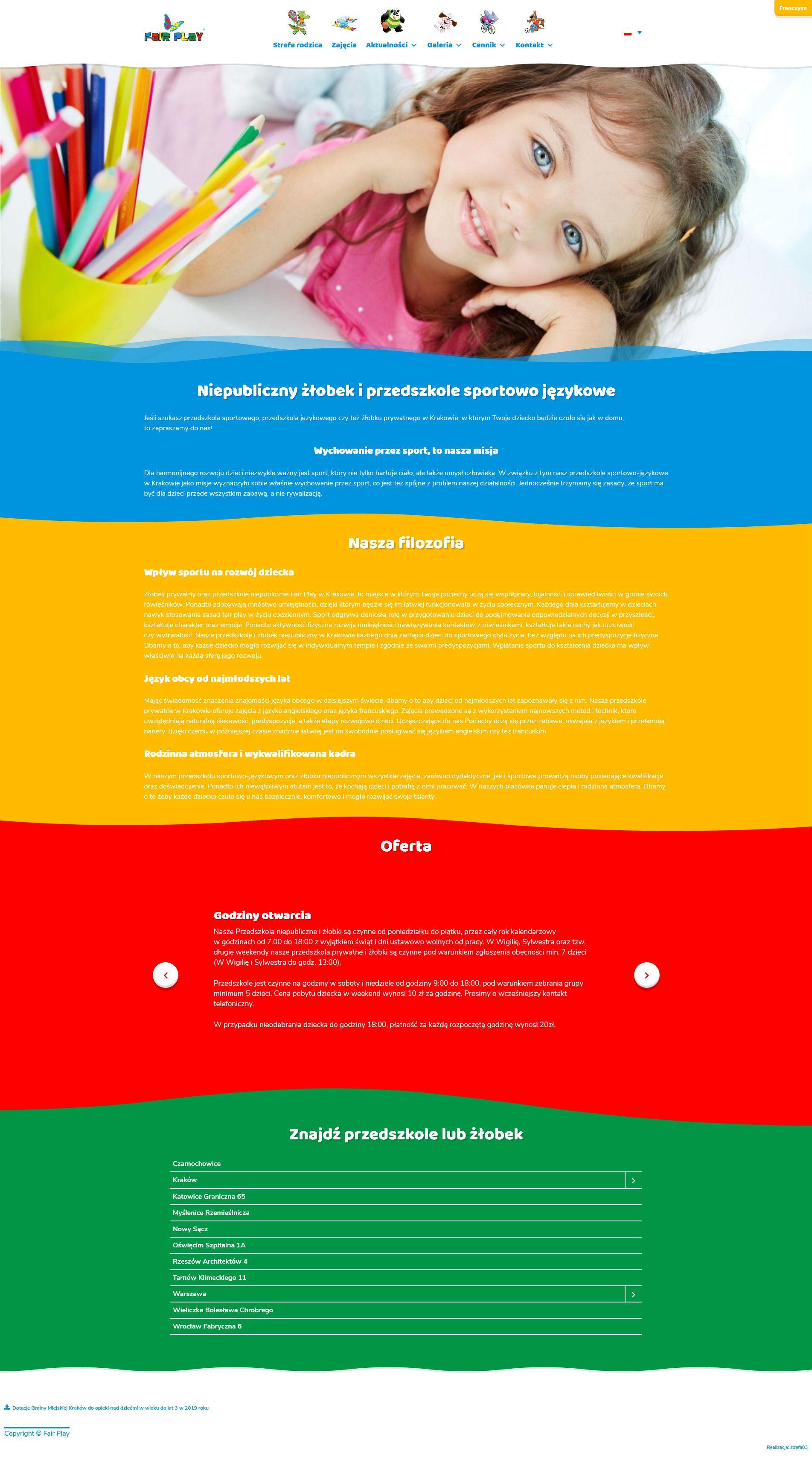 Projekt strony internetowej Fair Play | UX UI Design