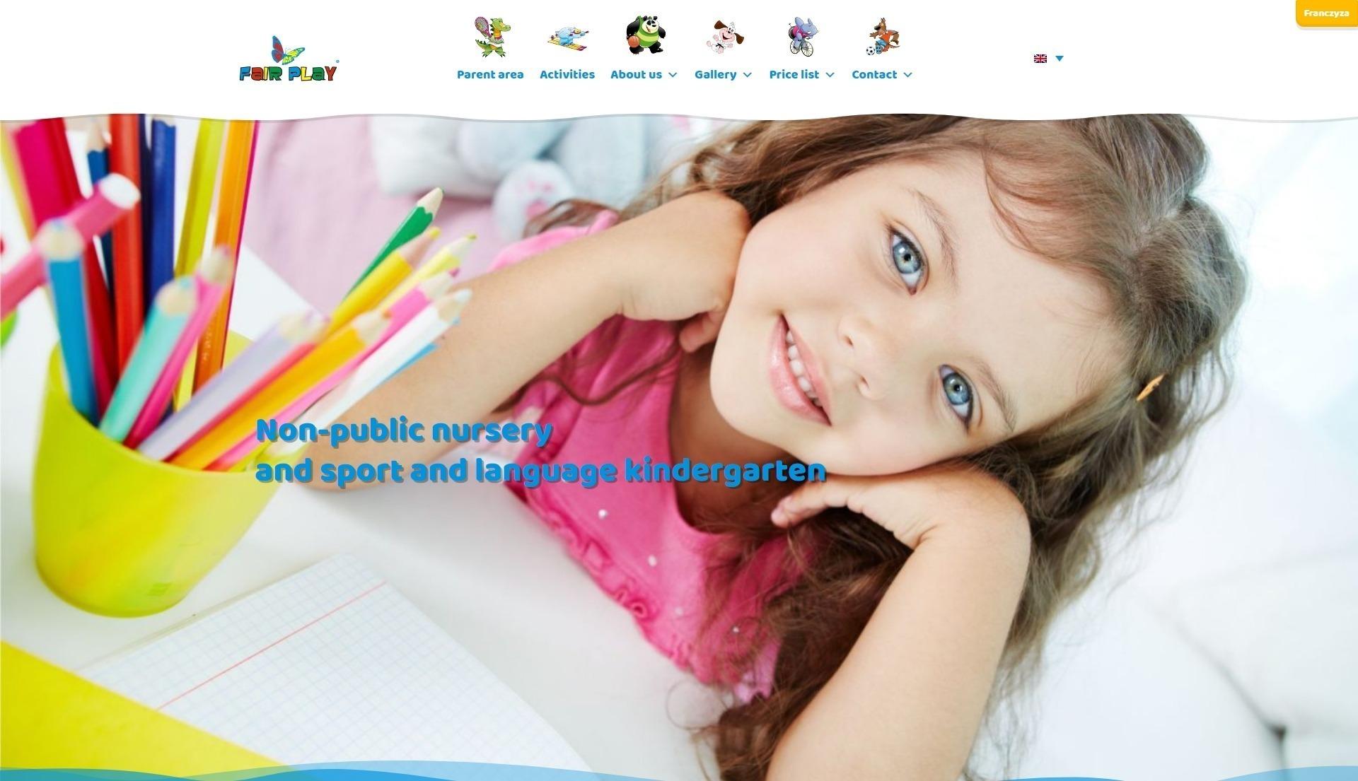 Projekt strony www Fair Play
