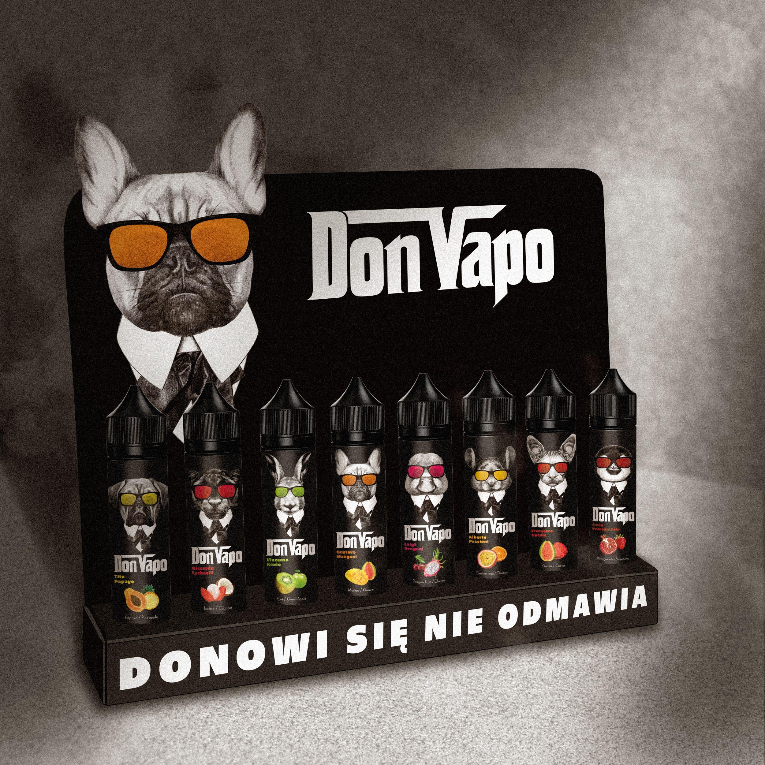 Projekt trybuki dla opakowań premixów Don Vapo