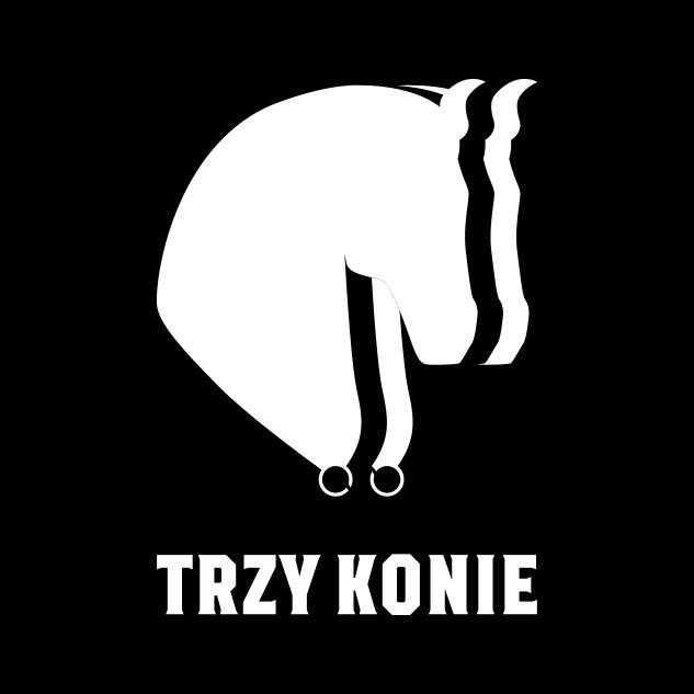 projekt logo 3 konie białe na czerni | branding | identyfikacja wizualna
