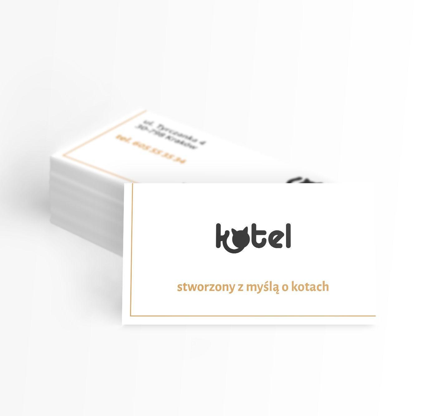projekt wizytówek dla Kotel | branding | identyfikacja wizualna