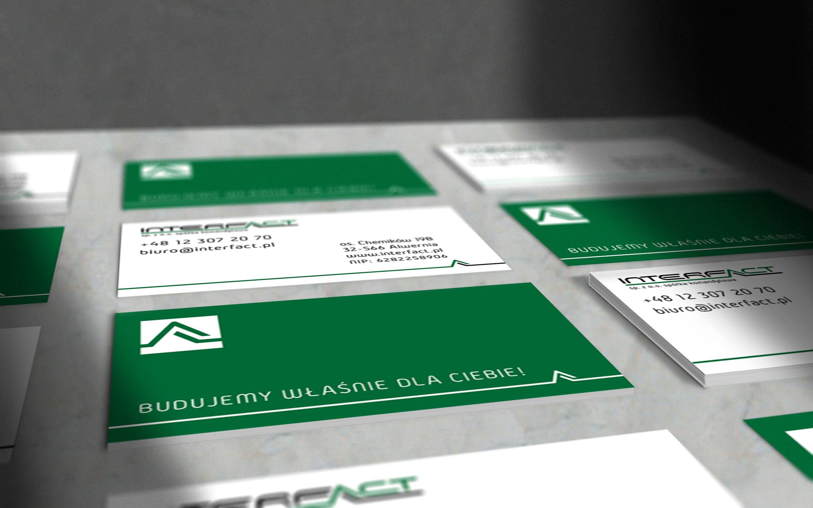 Projekt wizytówek dla Interfact | branding | identyfikacja wizualna