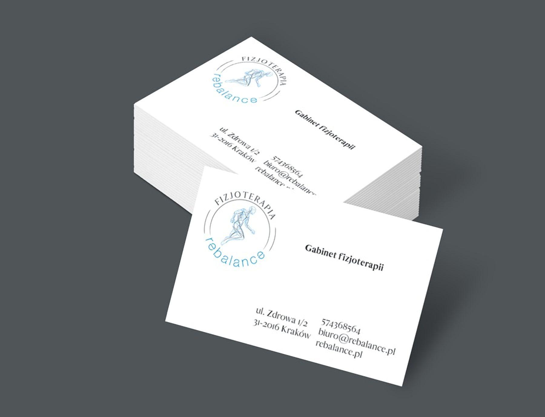 Projekt wizytówek dla Rebalance | branding | identyfikacja wizualna