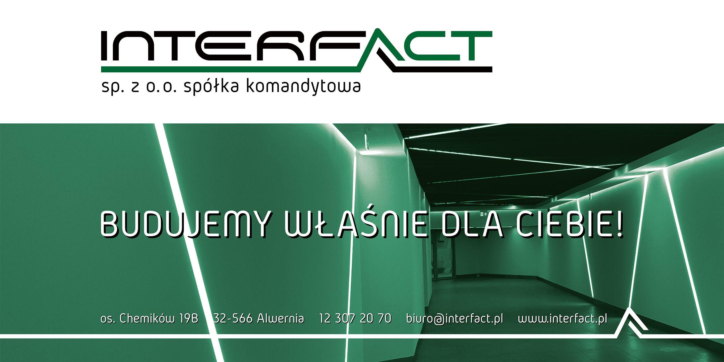 Projekt baneru reklamowego dla Interfact | branding | identyfikacja wizualna