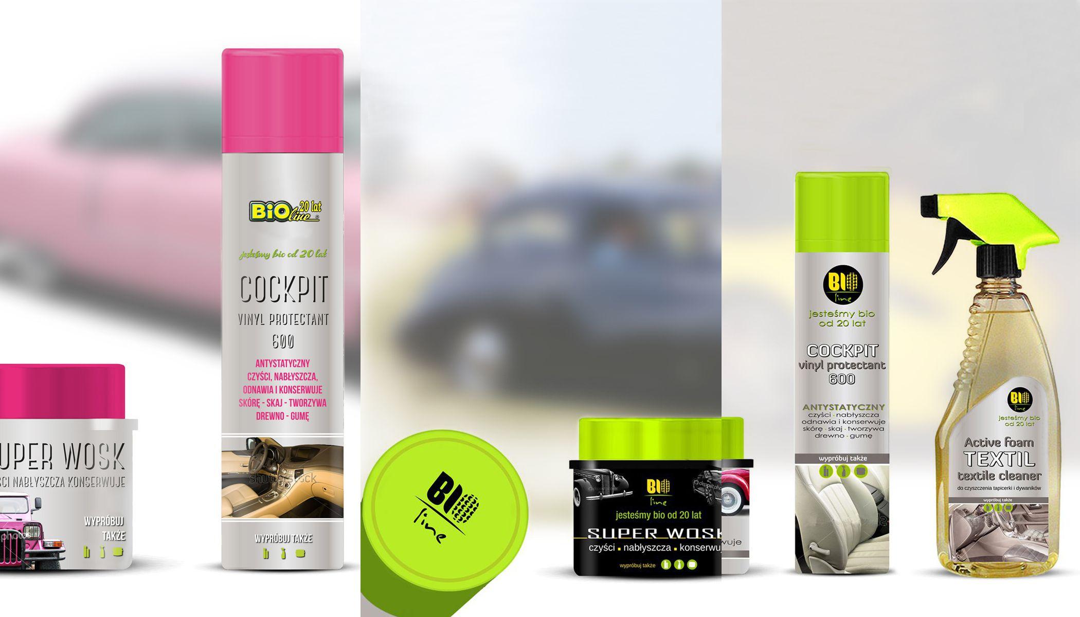 Projekt opakowań kosmetyków samochodowych | Projekt logo
