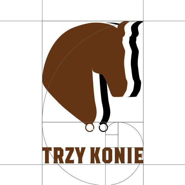 Budowa logo Trzy konie | branding | identyfikacja wizualna