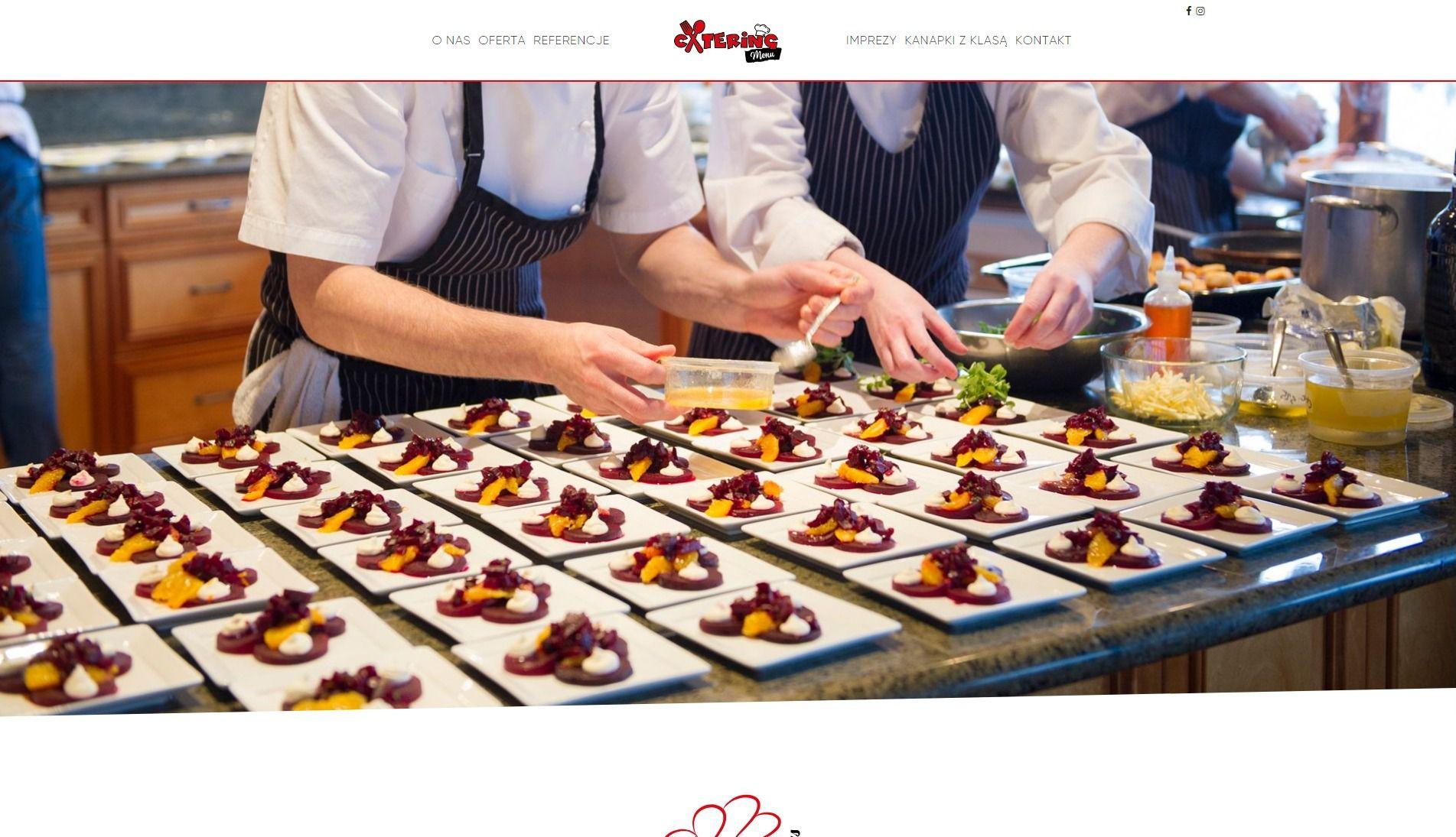 Projekt strony internetowej Catering Menu | UX UI Design