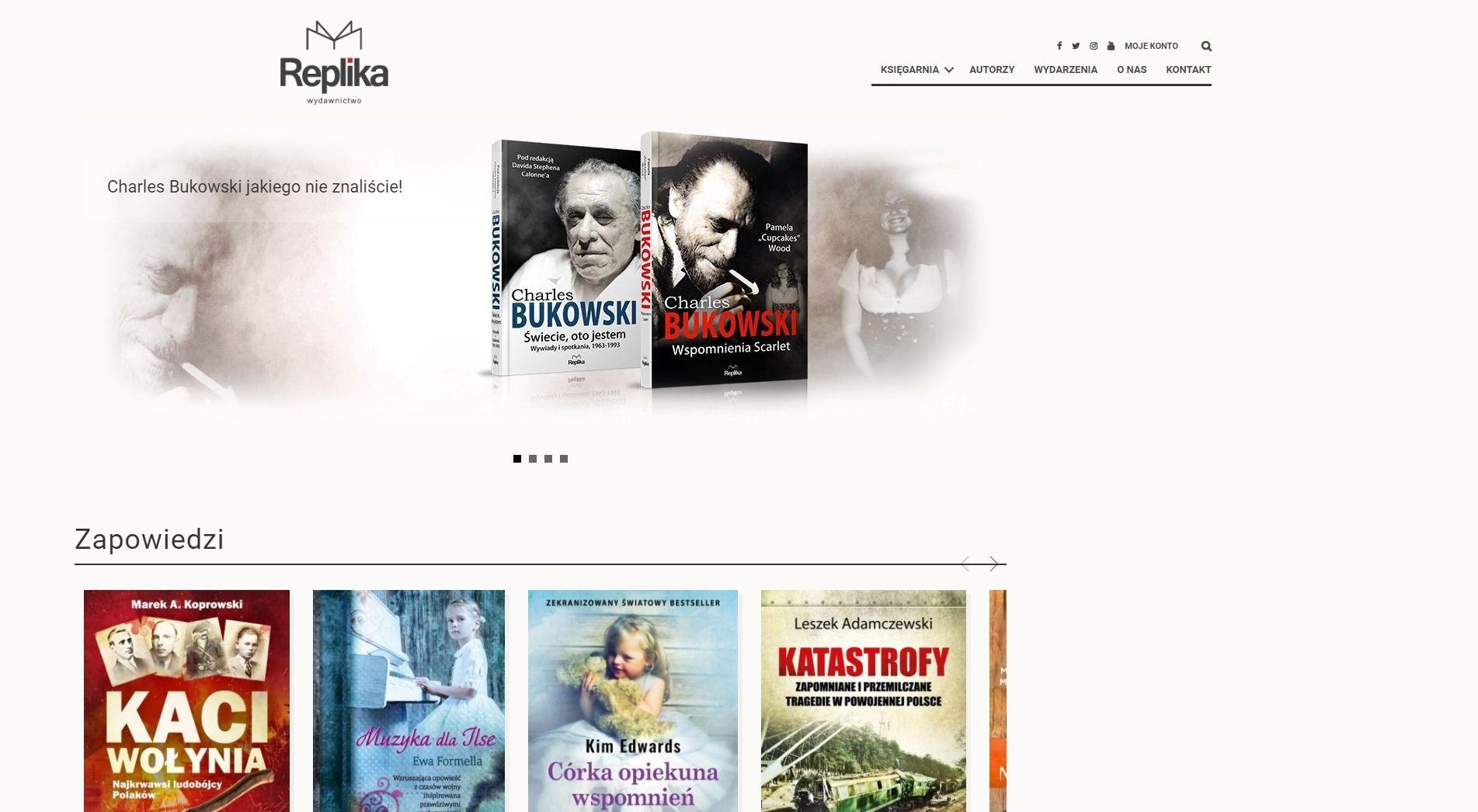 Projekt strony internetowej Replika | UX UI Design